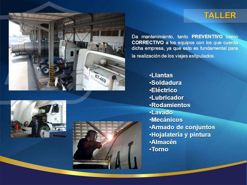 TALLER Llantas Soldadura Eléctrico Lubricador Rodamientos Lavado