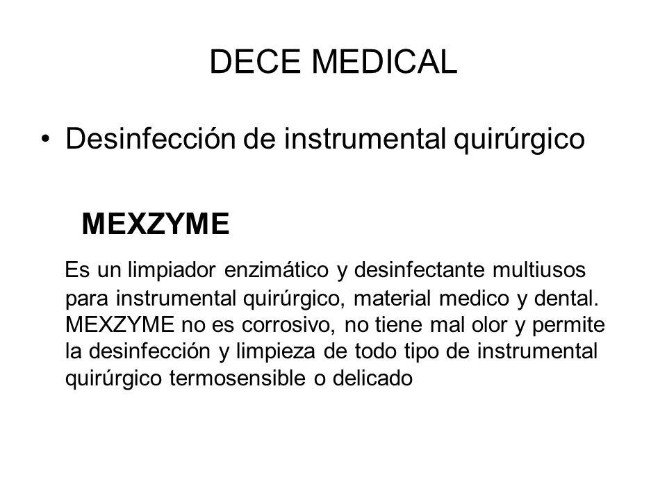 DECE MEDICAL Desinfección de instrumental quirúrgico MEXZYME