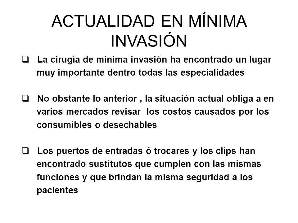 ACTUALIDAD EN MÍNIMA INVASIÓN