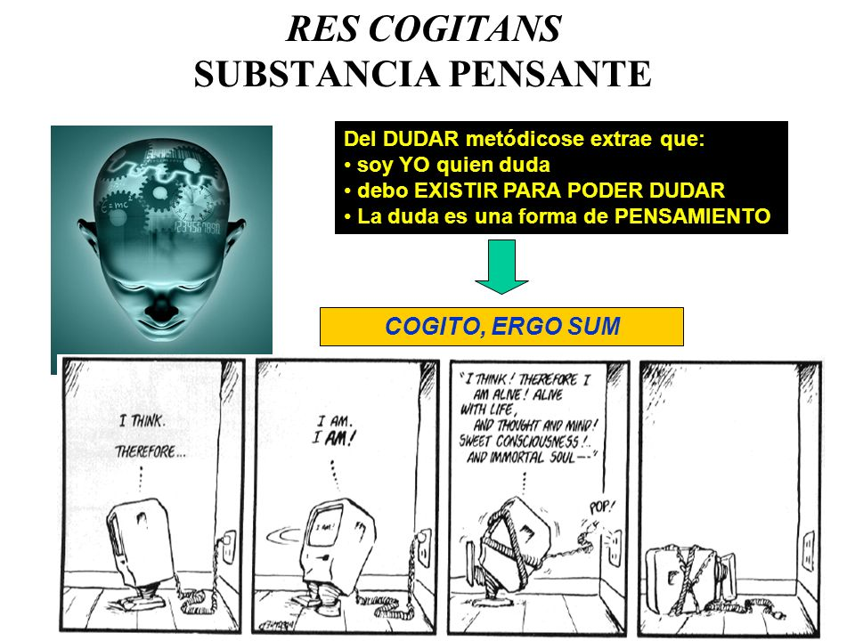 RES COGITANS SUBSTANCIA PENSANTE