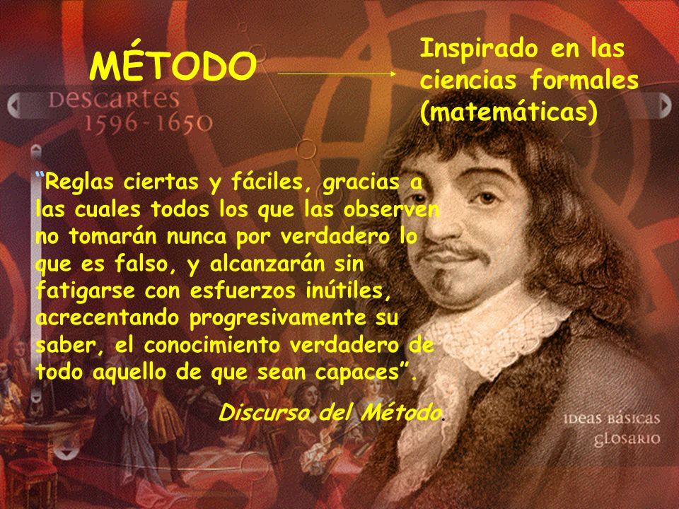 MÉTODO Inspirado en las ciencias formales (matemáticas)