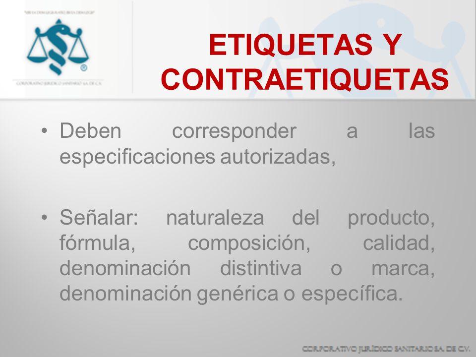 ETIQUETAS Y CONTRAETIQUETAS