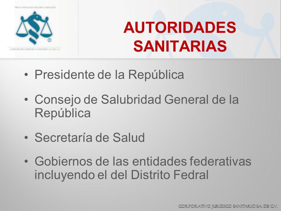 AUTORIDADES SANITARIAS
