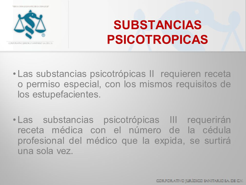 SUBSTANCIAS PSICOTROPICAS