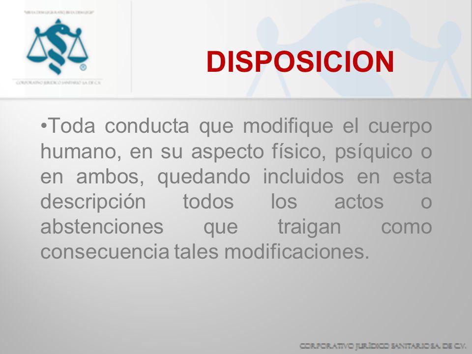 DISPOSICION