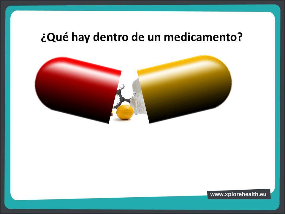 ¿Qué hay dentro de un medicamento