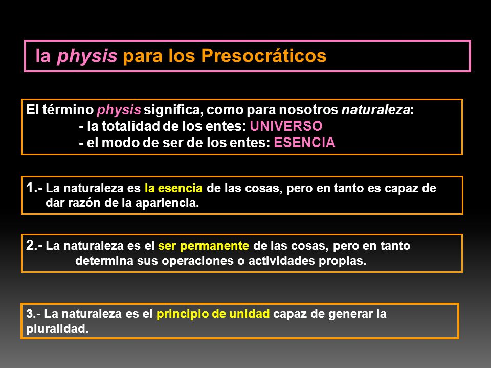 la physis para los Presocráticos