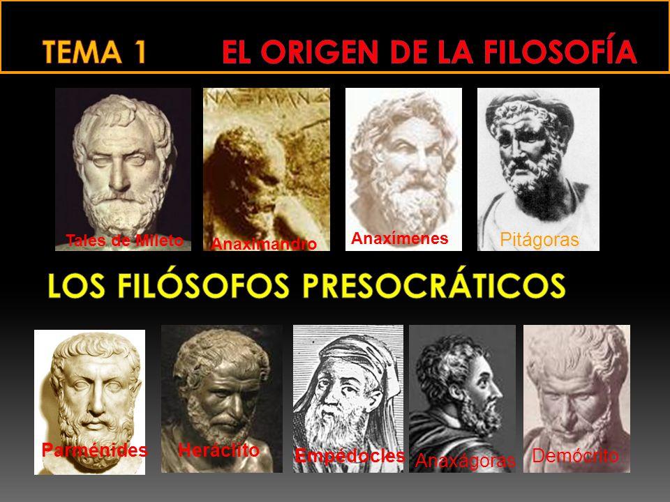 TEMA 1 EL ORIGEN DE LA FILOSOFÍA