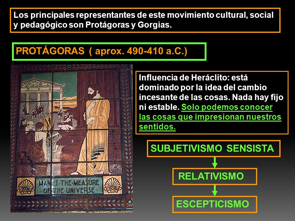 PROTÁGORAS ( aprox. 490-410 a.C.)