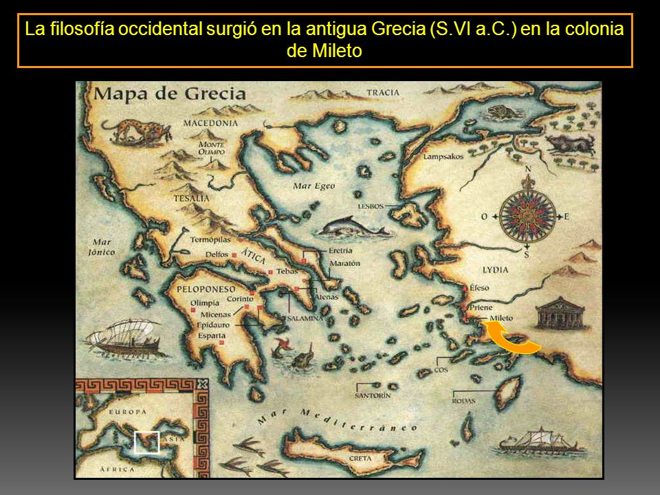 La filosofía occidental surgió en la antigua Grecia (S. VI a. C