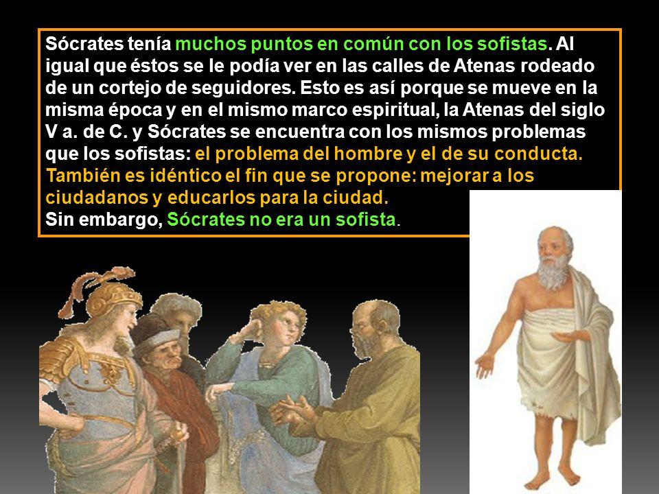 Sócrates tenía muchos puntos en común con los sofistas
