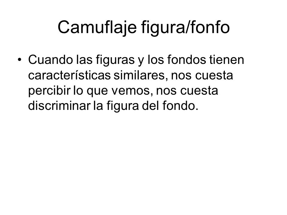 Camuflaje figura/fonfo