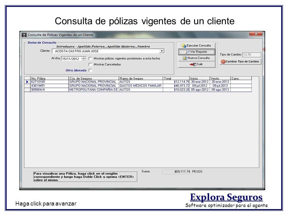 Consulta de pólizas vigentes de un cliente