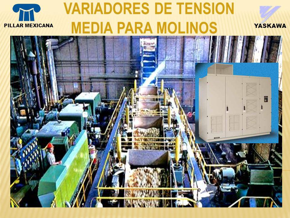 VARIADORES DE TENSION MEDIA PARA MOLINOS PILLAR MEXICANA YASKAWA