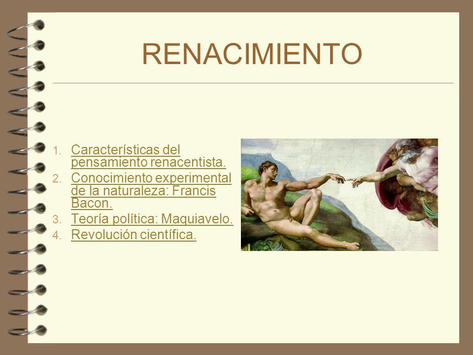 RENACIMIENTO Características del pensamiento renacentista.