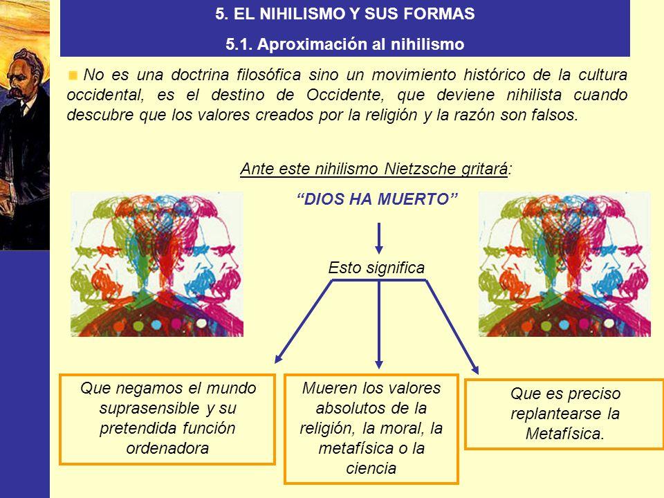 5. EL NIHILISMO Y SUS FORMAS 5.1. Aproximación al nihilismo