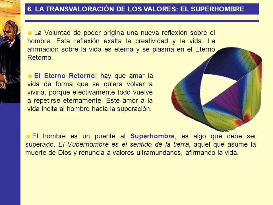 6. LA TRANSVALORACIÓN DE LOS VALORES: EL SUPERHOMBRE