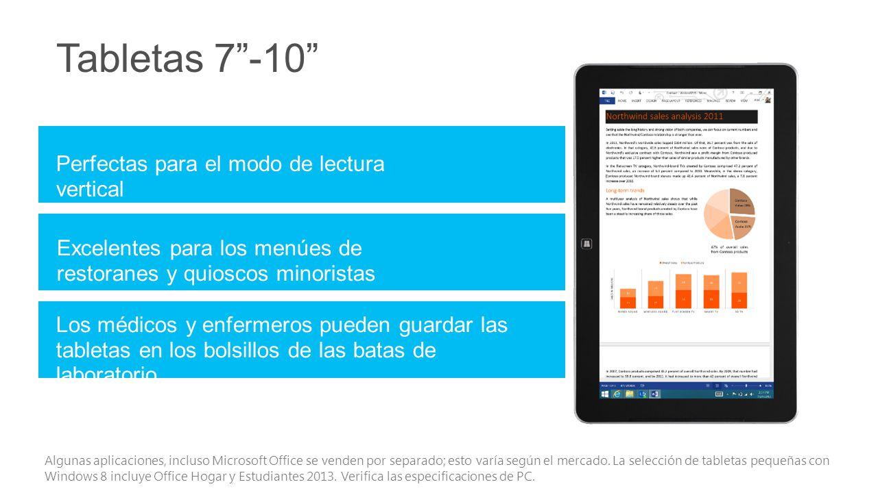 Tabletas 7 -10 Perfectas para el modo de lectura vertical