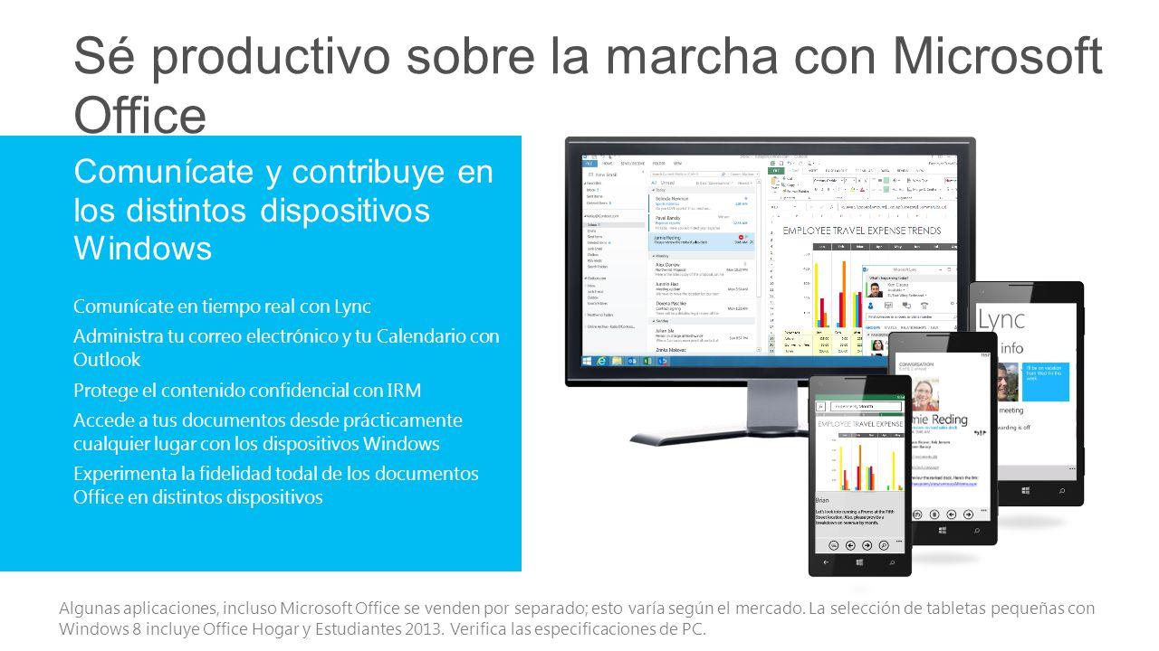 Sé productivo sobre la marcha con Microsoft Office