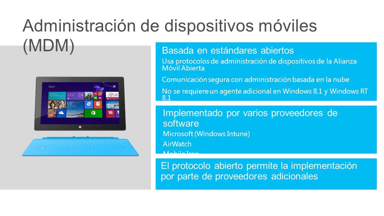 Administración de dispositivos móviles (MDM)