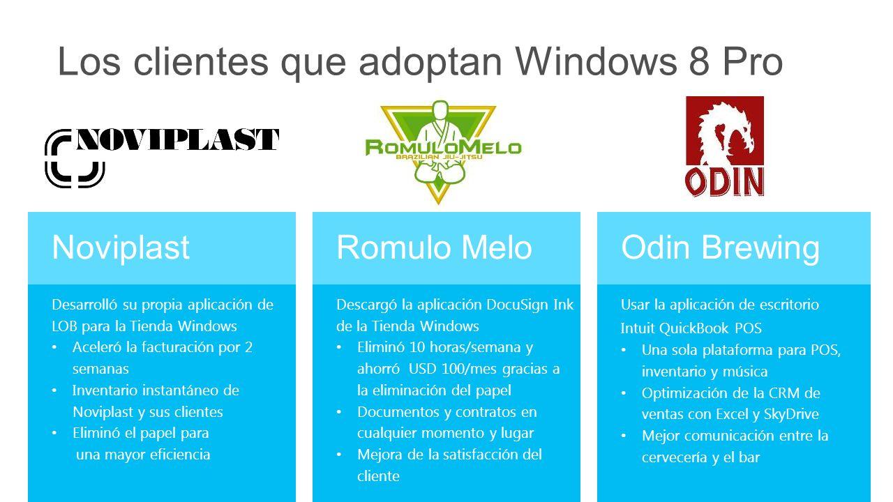Los clientes que adoptan Windows 8 Pro