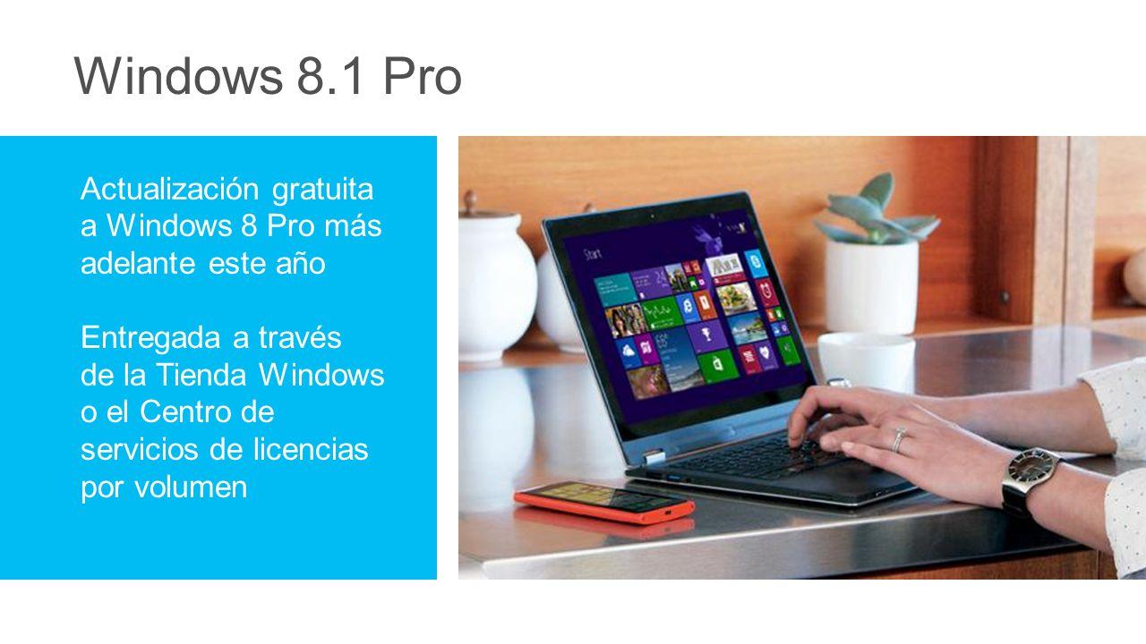 Windows 8.1 Pro Actualización gratuita a Windows 8 Pro más adelante este año.