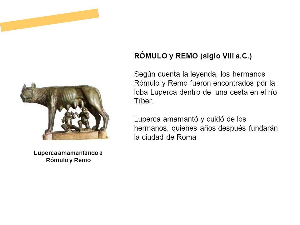 Luperca amamantando a Rómulo y Remo