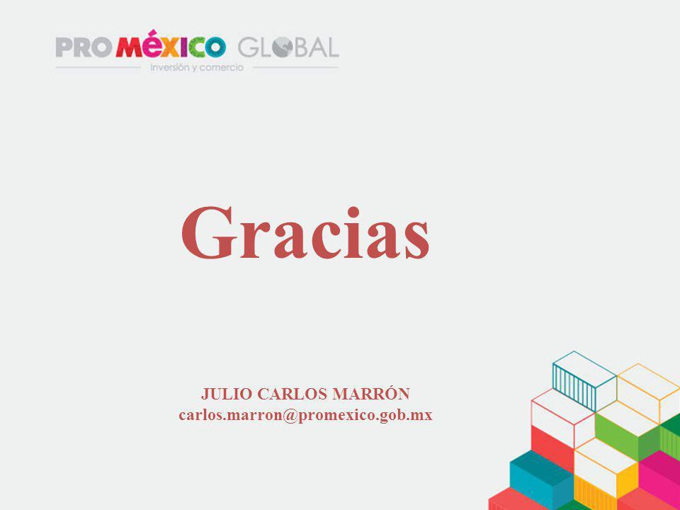 Gracias JULIO CARLOS MARRÓN carlos.marron@promexico.gob.mx