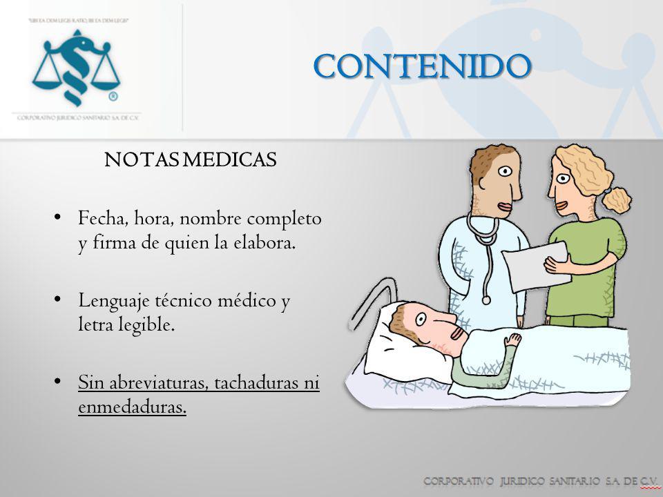 CONTENIDO NOTAS MEDICAS
