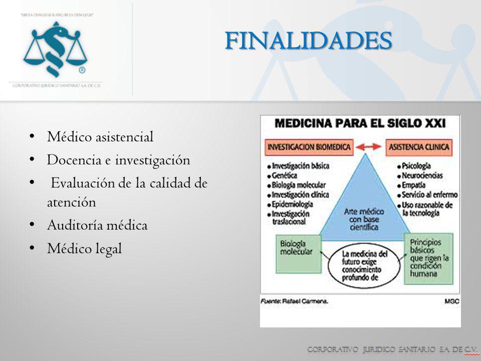 FINALIDADES Médico asistencial Docencia e investigación