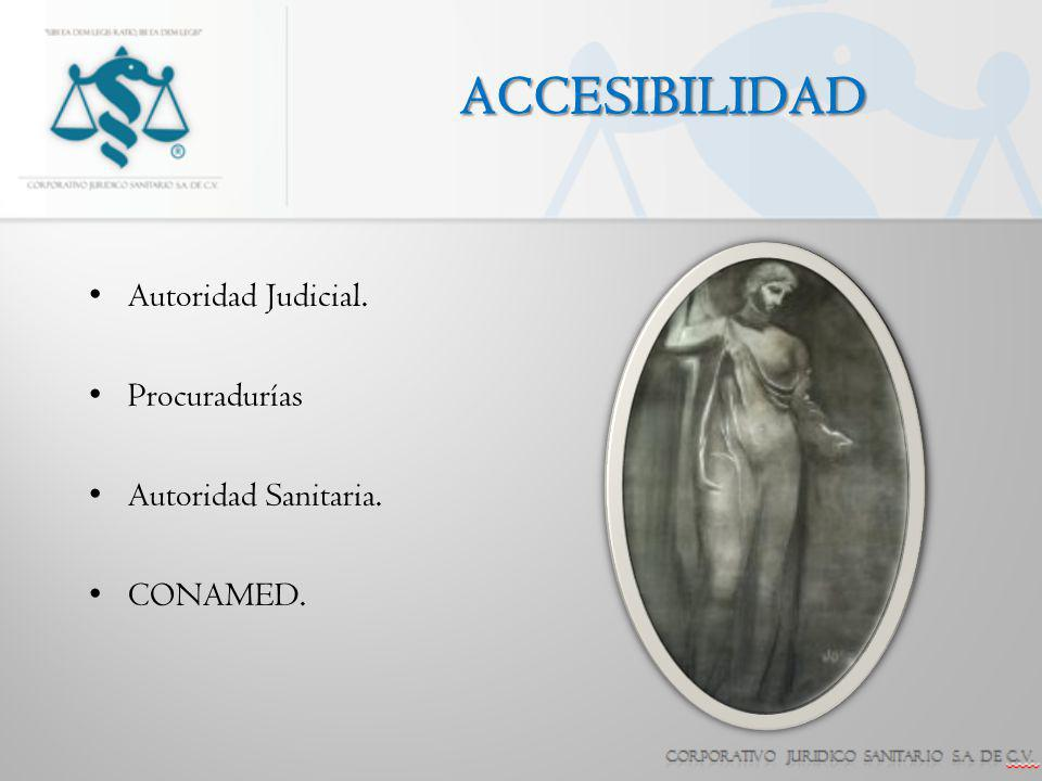 ACCESIBILIDAD Autoridad Judicial. Procuradurías Autoridad Sanitaria.