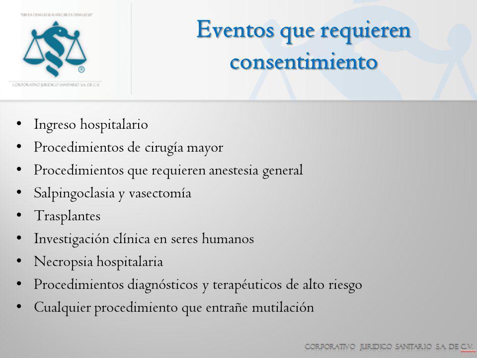 Eventos que requieren consentimiento