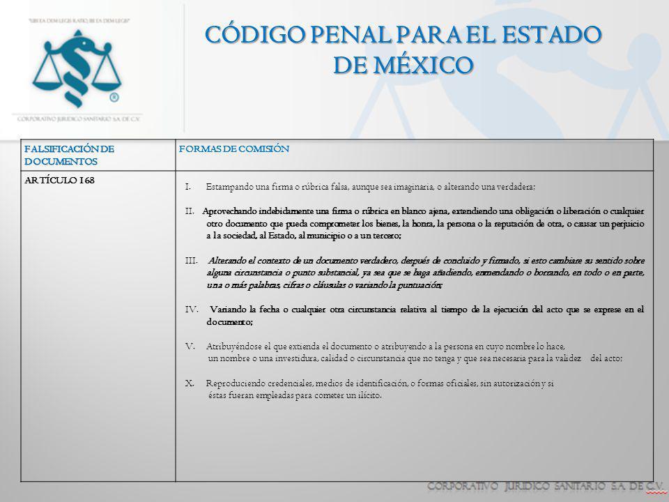 CÓDIGO PENAL PARA EL ESTADO DE MÉXICO