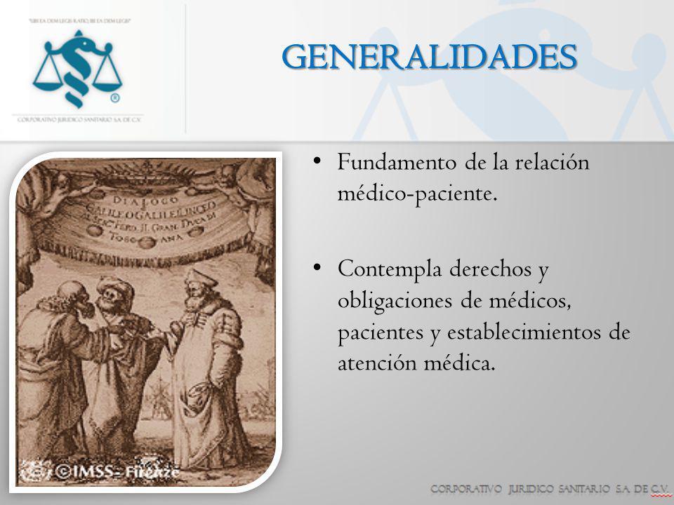 GENERALIDADES Fundamento de la relación médico-paciente.