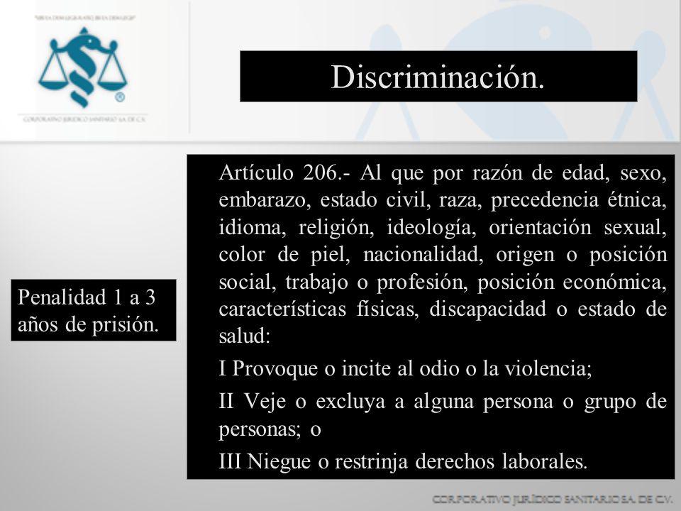 Discriminación.