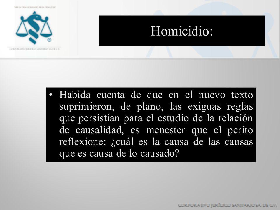 Homicidio: