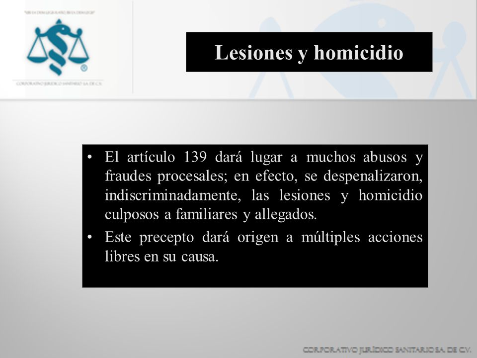 Lesiones y homicidio