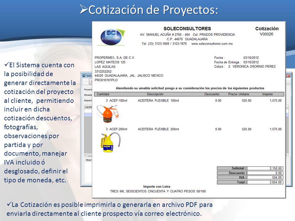 Cotización de Proyectos: