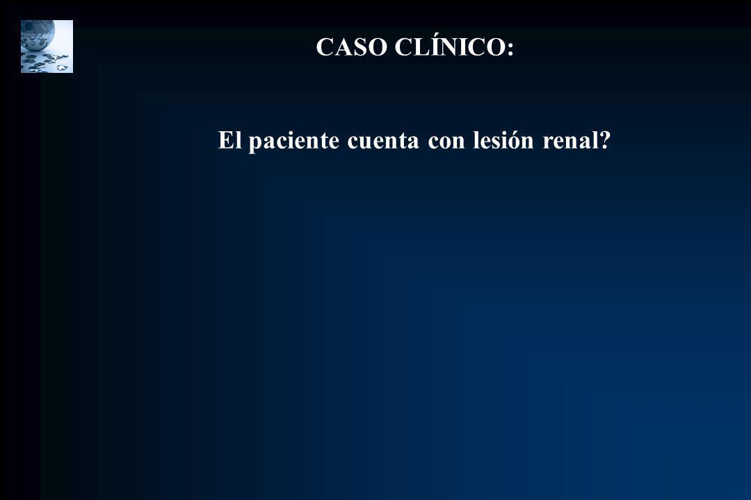 El paciente cuenta con lesión renal