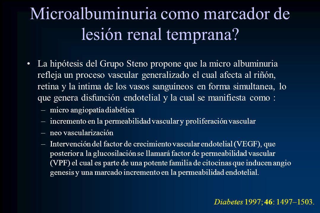 Microalbuminuria como marcador de lesión renal temprana