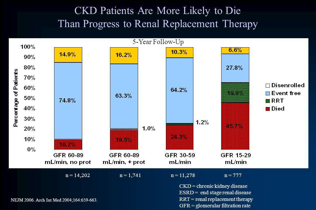 CKD Patients Are More Likely to Die Than Progress to Renal Replacement Therapy