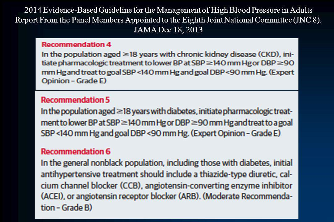 2014 Evidence-Based Guideline for the Management of High Blood Pressure in Adults