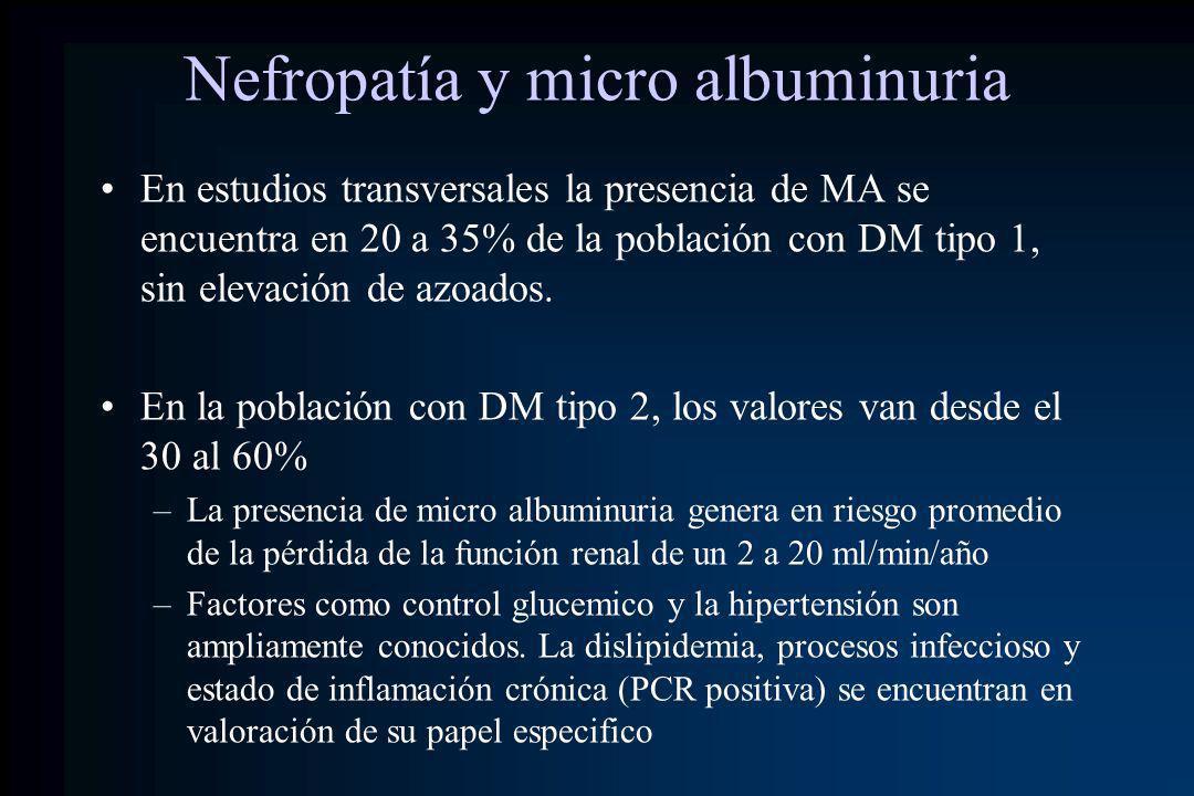 Nefropatía y micro albuminuria