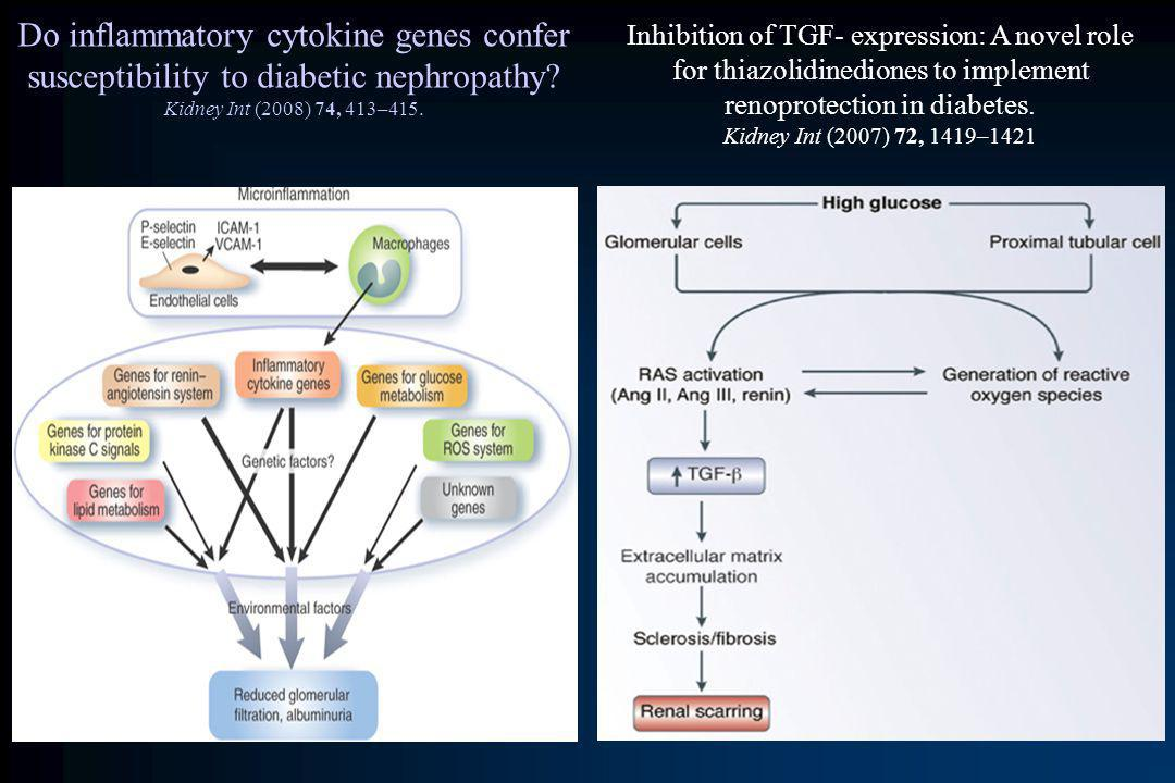 Do inflammatory cytokine genes confer susceptibility to diabetic nephropathy Kidney Int (2008) 74, 413–415.