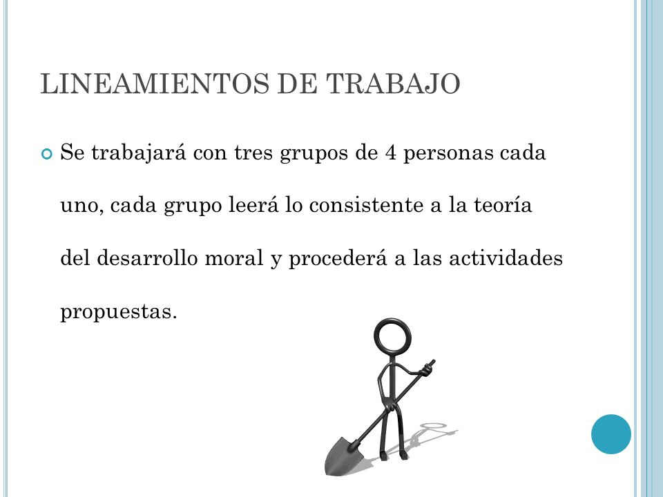 LINEAMIENTOS DE TRABAJO