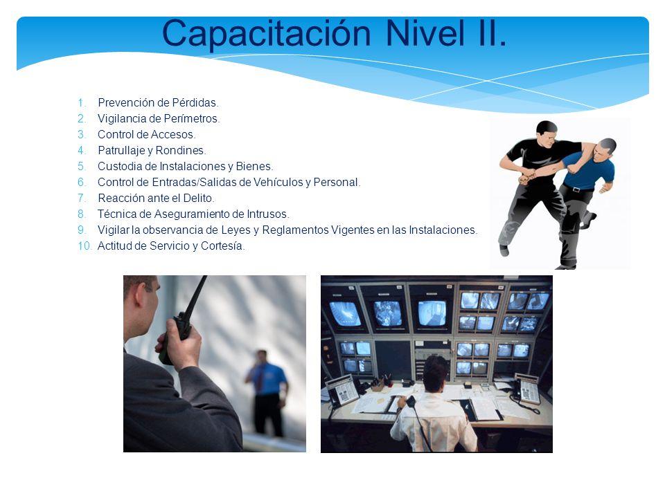 Capacitación Nivel II. Prevención de Pérdidas.