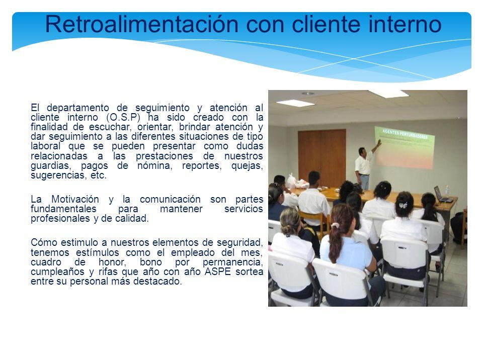 Retroalimentación con cliente interno