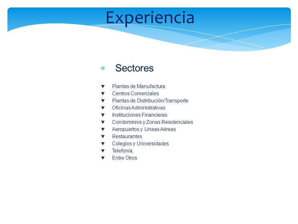 Experiencia Sectores Plantas de Manufactura Centros Comerciales