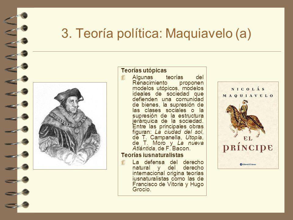 3. Teoría política: Maquiavelo (a)