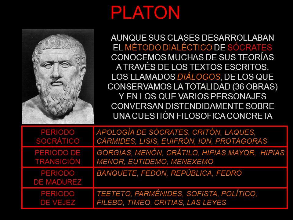 PLATON AUNQUE SUS CLASES DESARROLLABAN